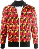 Palm Angels flame print bomber jacket
