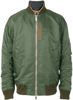 Sacai hybrid collar bomber jacket - men - Cotton/Nylon/Polyester/Wool - II