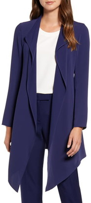 Anne Klein Drape Front Long Jacket