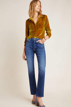 Mother The Tomcat Ultra High-Rise Straight Jeans
