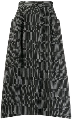 Henrik Vibskov graphic print No.1 skirt