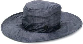 Maison Michel Lauren denim-effect fedora hat