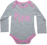 Silly Souls PUNK Infant Baby Girl Onesie Pink and Grey 3-6 Months