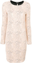 Emporio Armani knit effect fitted dress