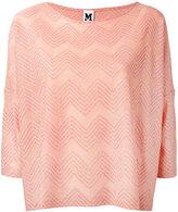 M Missoni patterned knit top - women - Cotton/Polyamide/Viscose/Metallic Fibre - S