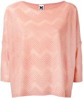 M Missoni patterned knit top - women - Cotton/Viscose/Metallic Fibre/Polyamide - S