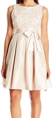 Jessica Howard JessicaHoward Women's Petite Sleeveless Fit and Flare Soutache Dress