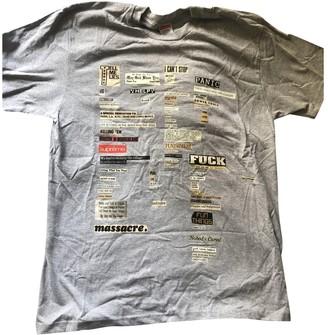 Supreme Grey Cotton T-shirts
