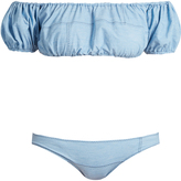 Lisa Marie Fernandez Leandra patchwork denim bikini