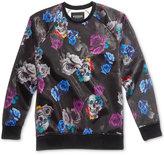 GUESS Men's Luther Metallic Floral-Print Sweatshirt