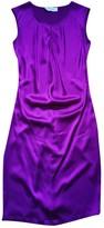 Saint Laurent Purple Silk Dress for Women