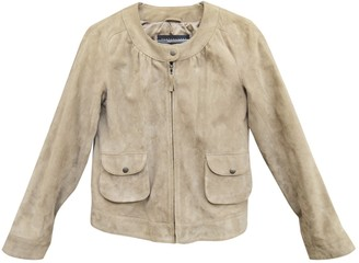 Ventcouvert Beige Suede Leather jackets