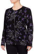 Karen Scott Plus Floral Cardigan