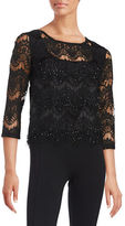 Marina Embellished Lace Top