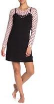 Betsey Johnson Long Sleeve Slip Dress