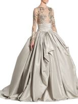 Marchesa Taffeta Beaded Gown