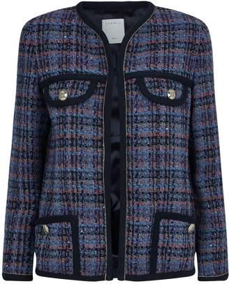 Sandro Tweed Check Jacket