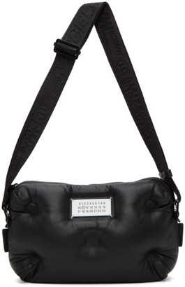 Maison Margiela Black Leather Glam Slam Messenger Bag