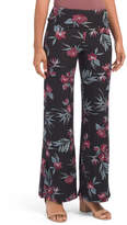 Juniors Floral Foldover Palazzo Pants