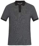Giorgio Armani Short-sleeved waffle-jersey polo shirt