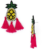 Aqua Pineapple Tassel Drop Earrings - 100% Exclusive