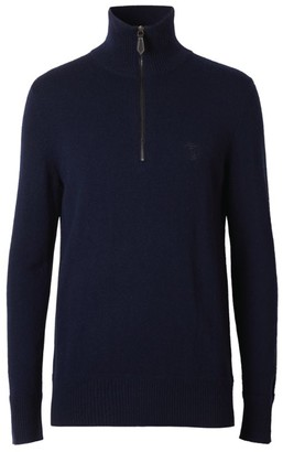 Burberry Cashmere Zip-Up Sweater