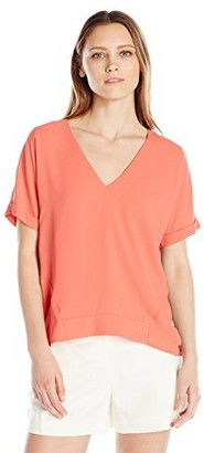 Cooper & Ella Women's Holly Deep V Tee