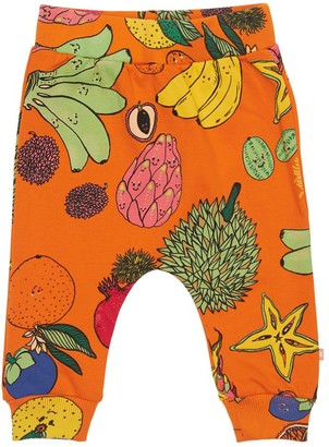 Molo FRUIT PRINT COTTON SWEATPANTS