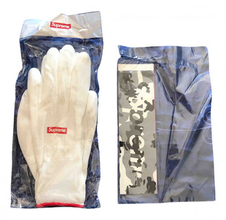 Supreme White Synthetic Gloves
