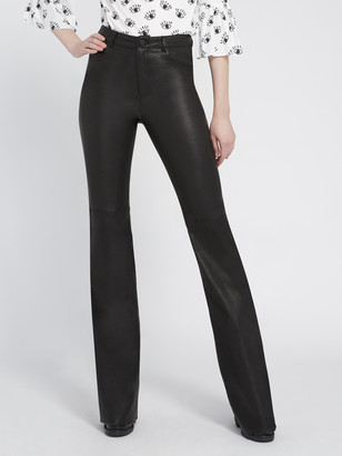 Alice + Olivia BRENT HIGH WAISTED LEATHER PANT