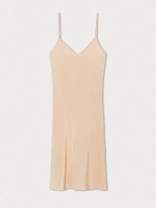 Diane von Furstenberg Short Silk Crepe de Chine Slip