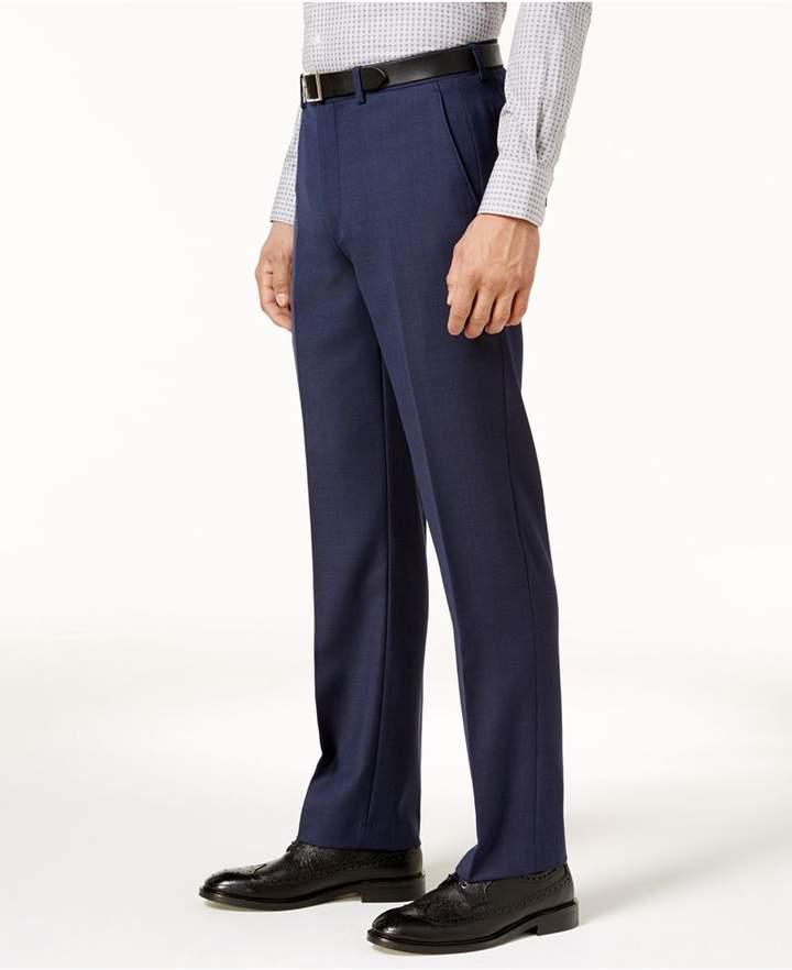 Ryan Seacrest Distinction Ryan Seacrest DistinctionTM Men's Slim-Fit Navy Birdseye Pants, Created for Macy's