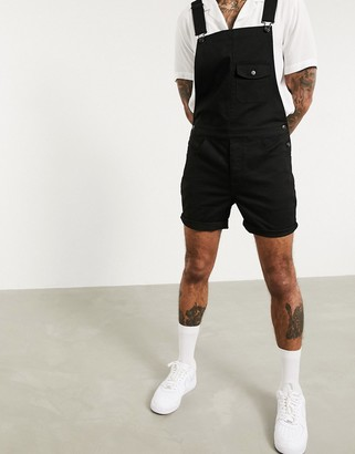 ASOS DESIGN skinny shorts dungaree