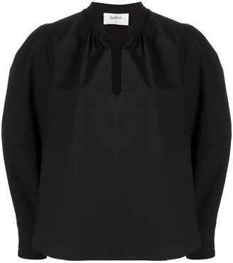 BA&SH split neck Marin blouse