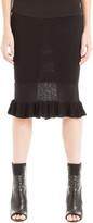 Max Studio Ruffled Sweater Skirt