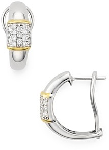 Bloomingdale's Marc & Marcella Pave Diamond Bar Earrings in Sterling Silver & 14K Gold-Plated Sterling Silver, 0.43 ct. t.w. - 100% Exclusive