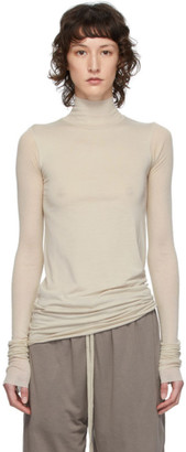 Rick Owens Lilies Grey Heavy Jersey Long Sleeve T-Shirt