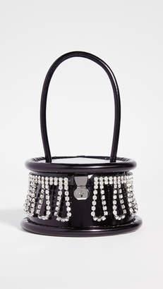 Area Top Handle Crystal Fringe Bag