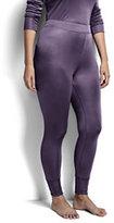 Classic Women's Plus Size Silk Interlock Pants-Ivory