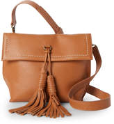 Sondra Roberts Tassled Pebble Leather Crossbody