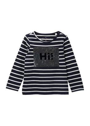 Tailor Vintage Hi Bye Reversible Sequins Long Sleeve Tee (Toddler & Little Girls)