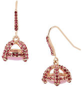 Betsey Johnson Pave Cage Drop Earrings