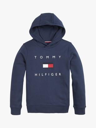Tommy Hilfiger Boys' Organic Cotton Logo Hoodie