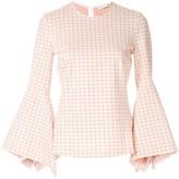 Rosetta Getty flared sleeve blouse