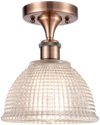 clear Arietta 1-Light Semi-Flush Mount, Antique Copper,