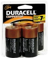 Duracell Coppertop D Alkaline Batteries 1.5 Volt 4 Each (Pack of 2)