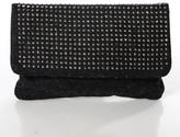 Deux Lux Dark Gray Rain Drop Clutch Handbag $105 New