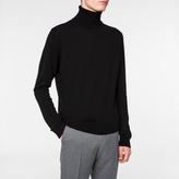 Paul Smith Men's Black Cashmere Roll-Neck Sweater
