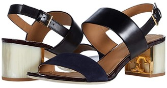 Tory Burch Gigi 55 mm Sandal (Perfect Black/Midnight) Women's Shoes