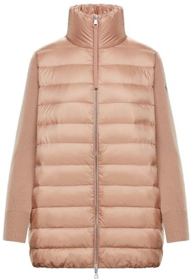 Moncler Knit Quilted Down Coat